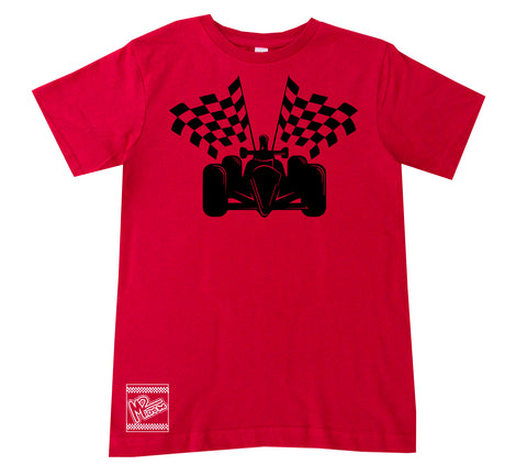 RaceCar Tee OR Muscle Tank, Red- (6M-Youth XL)