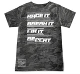 Race It Break It Tee OR Muscle Tank,Smoke Camol- (6M-Youth XL)