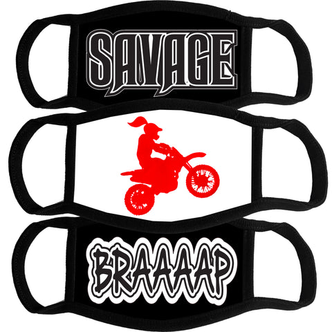 Mask Bundle-Savage, MotoGirl, Braaap