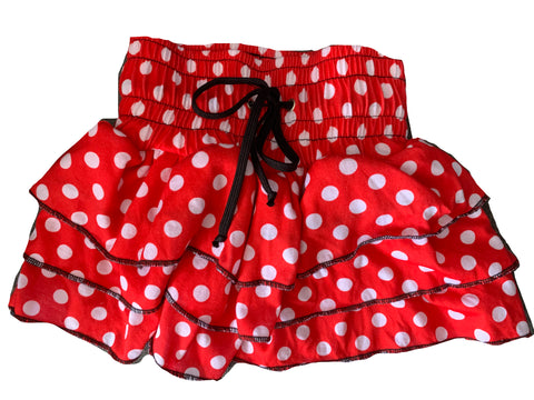 Red Polka Dot Ruffle Skirt