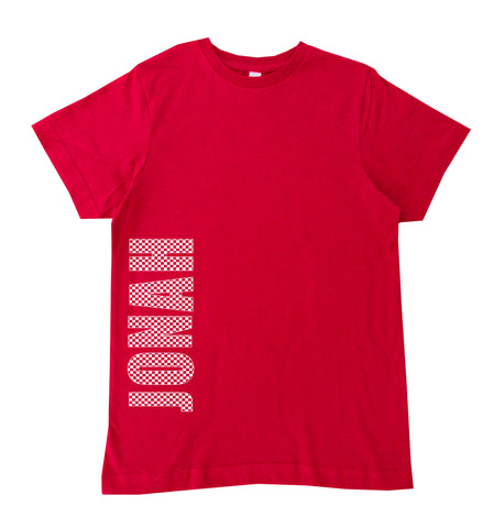 Red Checker Custom Tee **CUSTOM NAME on Front***