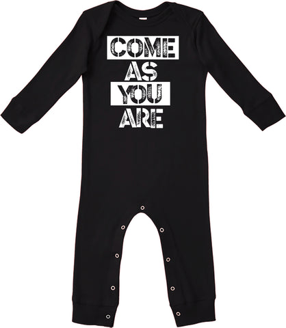 Come As You Are Romper, Black (Infant)