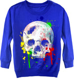 *Royal Crew Fleece Skull Splatter Sweatshirt-Toddler & Youth