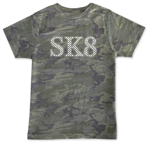 SK8 Camo Check Tee **CUSTOM NAME***