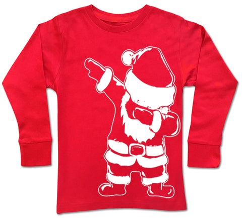 CHR-Santa Dab Long Sleeve Shirt, Red (Infant, Toddler, Youth)