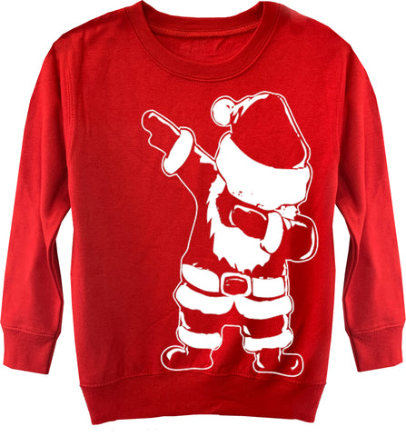 CHR-Santa Dab Sweater, Red (Toddler, Youth)