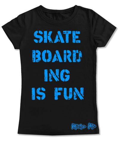 Skateboarding Is Fun Fitted Tee, Black (Infant, Toddler, Youth)