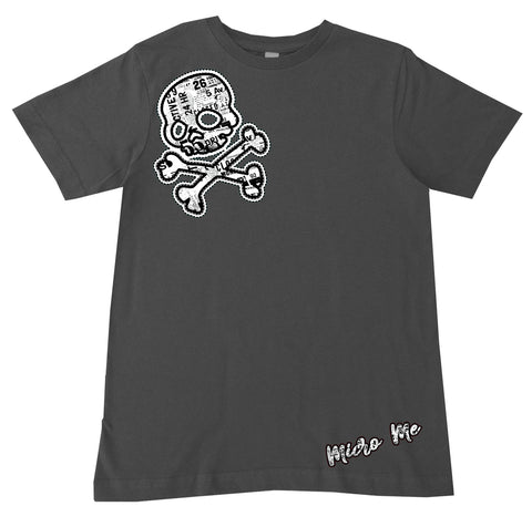 URB-Urban SKULL Tee, Charcoal (Infant, Toddler, Youth)