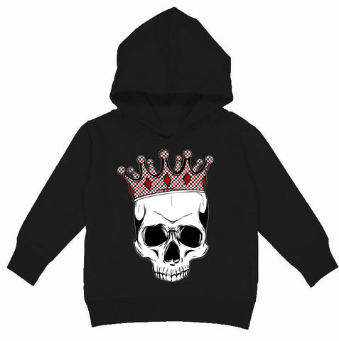 A-Valentine COLLAB-Skull Hoodie, Black(Toddler, Youth)