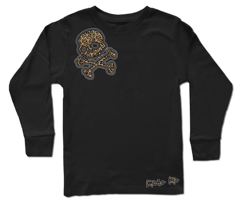 Leopard Skull  LS, Black (Infant, Toddler, Youth)