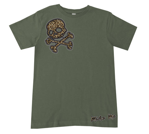 Leopard Skull Tee, Military(Infant, Toddler, Youth)