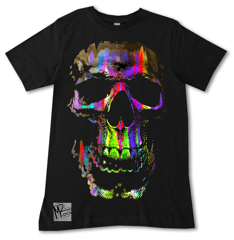 NS-Neon Track Skull Tee, Black (Infant, Toddler, Youth, Adult)