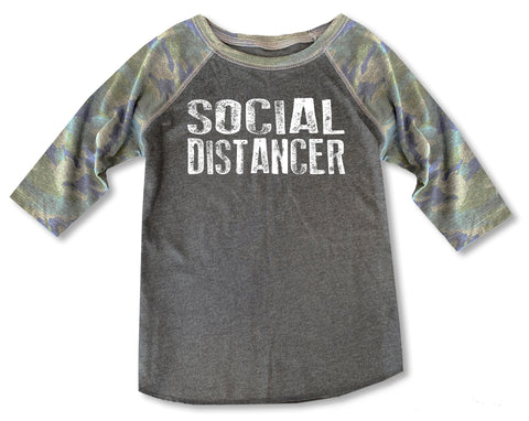 Social Distancer Raglan