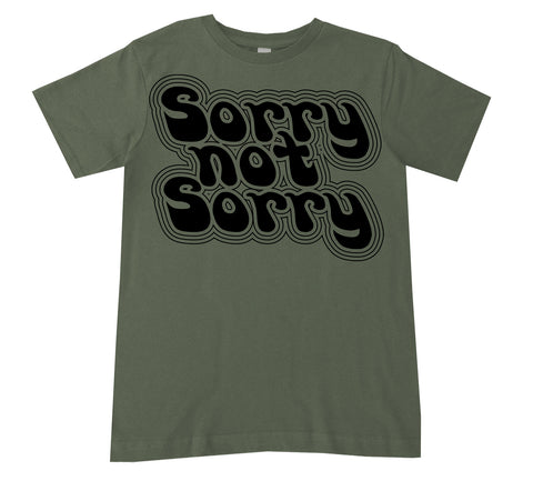 Sorry Not Sorry Tee, Military (Infant, Toddler, Youth)