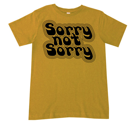 Sorry Not Sorry Tee, Mustard (Youth)