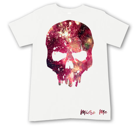 Space Dye Skull Tee, White (infant, toddler, youth)