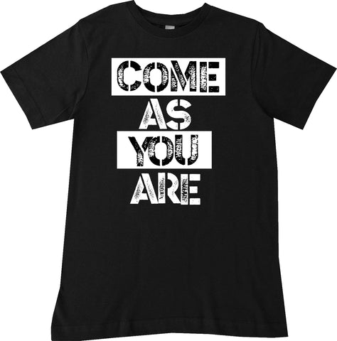 Come As You Are Tee, Black (Infant, Toddler, Youth)