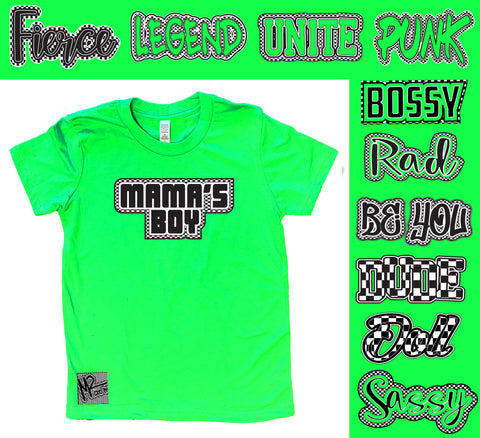 *Check Yourself Tee, Neon Green (Infant, Toddler, Youth)