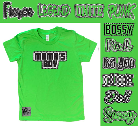 *Check Yourself Tee, Lime (Infant, Toddler, Youth)