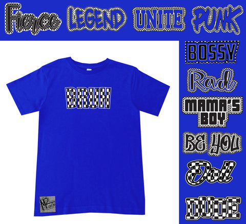 *Check Yourself Tee, Royal (Infant, Toddler, Youth)