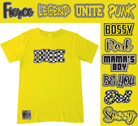 *Check Yourself Tee, Yellow (Infant, Toddler, Youth)