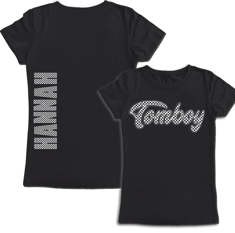 Black Checkerboard Tomboy***CUSTOM NAME