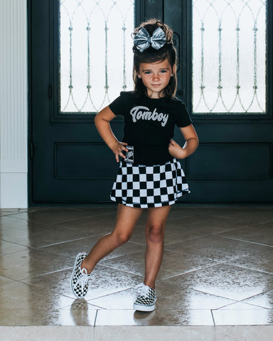 RC-Skort, Checkerboard (Toddler, Youth)