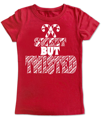 CHR-Sweet But Twisted Fitted Tee, Red (infant, toddler, youth)