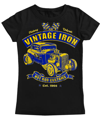 Vintage Iron Fitted Tee, Black (Toddler, Youth)