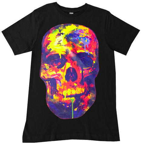 Watercolor SKULL Tee, Black (Infant, Toddler, Youth,Adult)