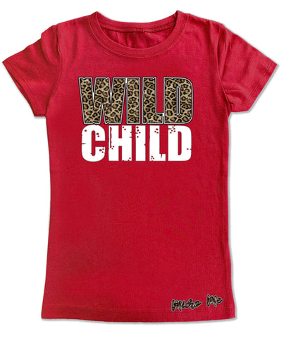 Wild Child Fitted Tee, Red (infant, toddler, youth)