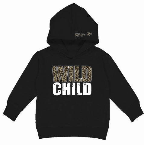 Wild Child Hoodie, Black (Toddler, Youth)