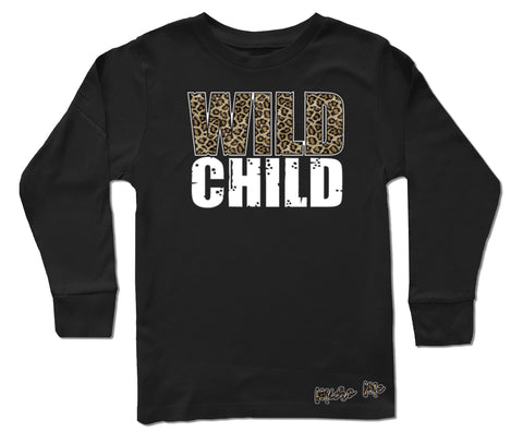 Wild Child LS, Black (Infant, Toddler, Youth)