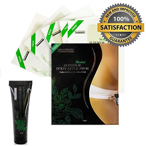 5 Chest Body Wrap Applicators Plus 1 Defining Gel Applicator