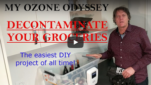 Clean your Groceries and Shopping with Ozone