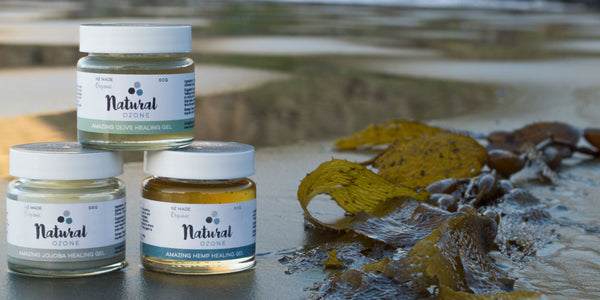Natural Ozone Healing Gels and Oils