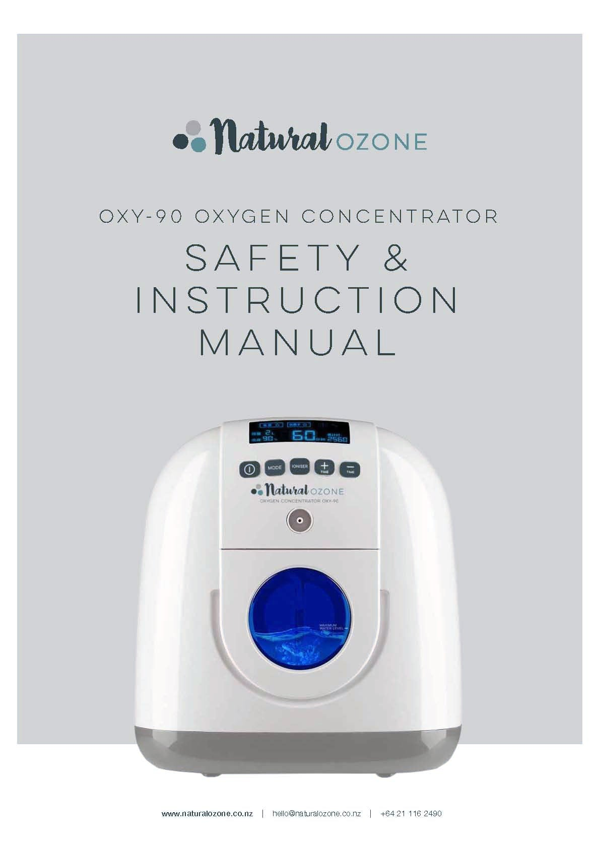 OXY-90 Portable Oxygen Concentrator 2 - 7L 90% Purity