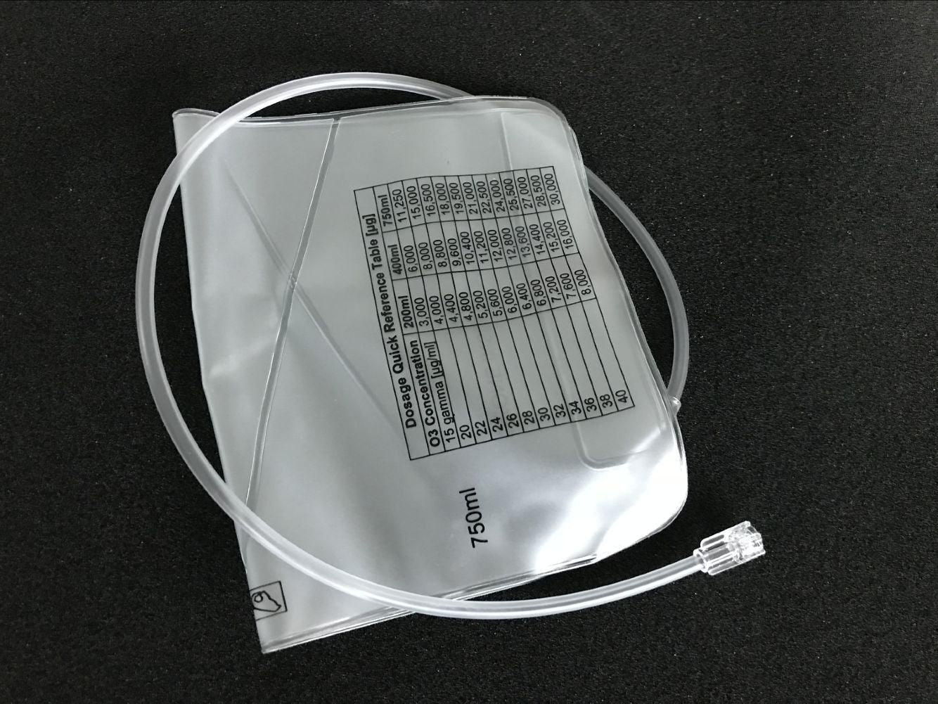 Reusable Multi Chambered Ozone Insufflation Bag with 2 RI catheters