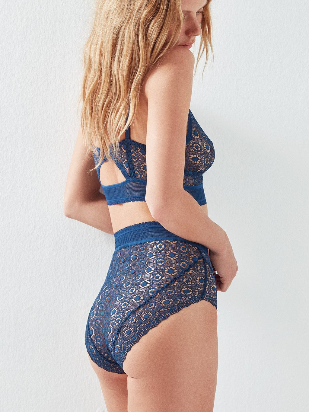 Else lingerie Coachella high-waist brief in midnight blue | Finding Rosie lingerie boutique