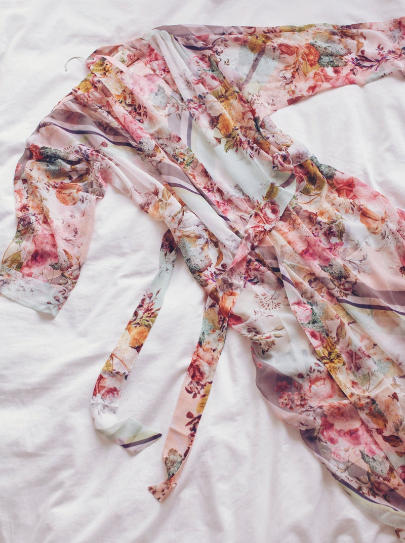 Jules long floral robe by Flora Nikrooz - Luxury loungewear