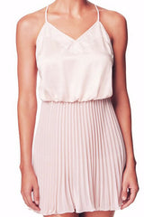Flora Nikrooz Keira Pleated Chemise in Buff