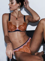 Rosalind undies by Dora Larsen | pink and burnt orange lingerie