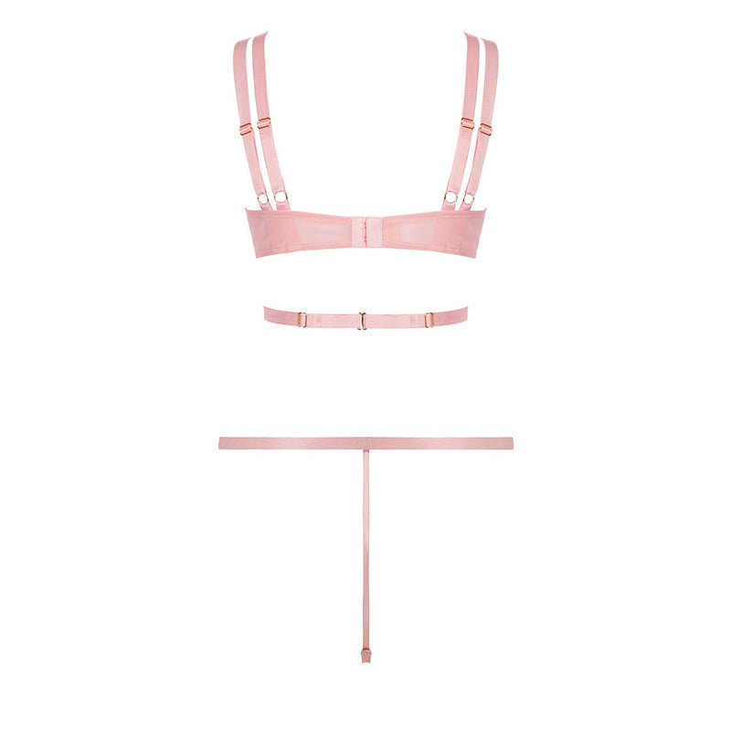 Alexa Pink Bralette and Brief set by Bluebella