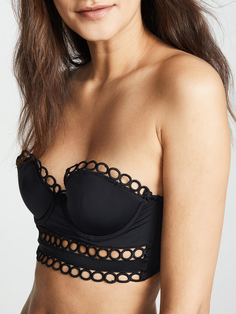 Shop black strapless Beverly bra by Thistle & Spire | Finding Rosie