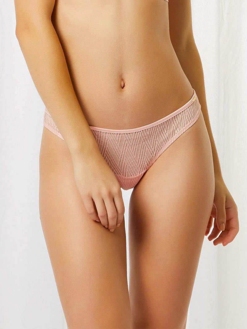 Anya pink brief by Bluebella