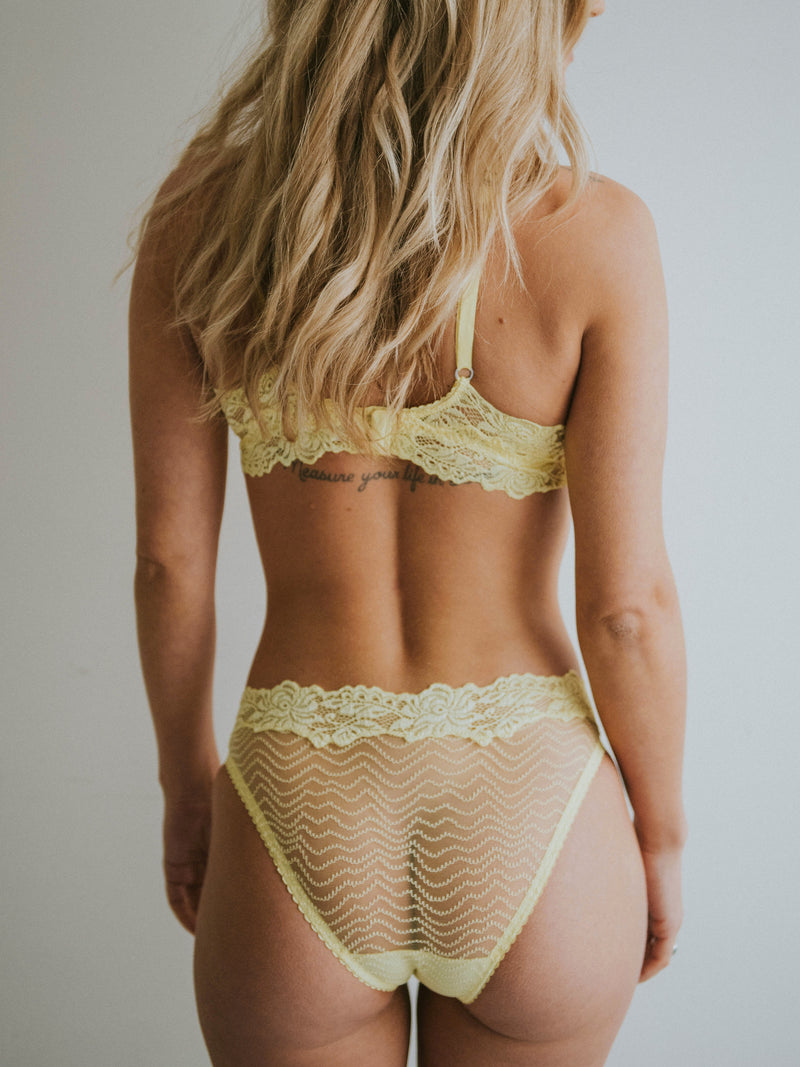 Bonnie Soft Bra Lemonade Yellow | Lonely Lingerie