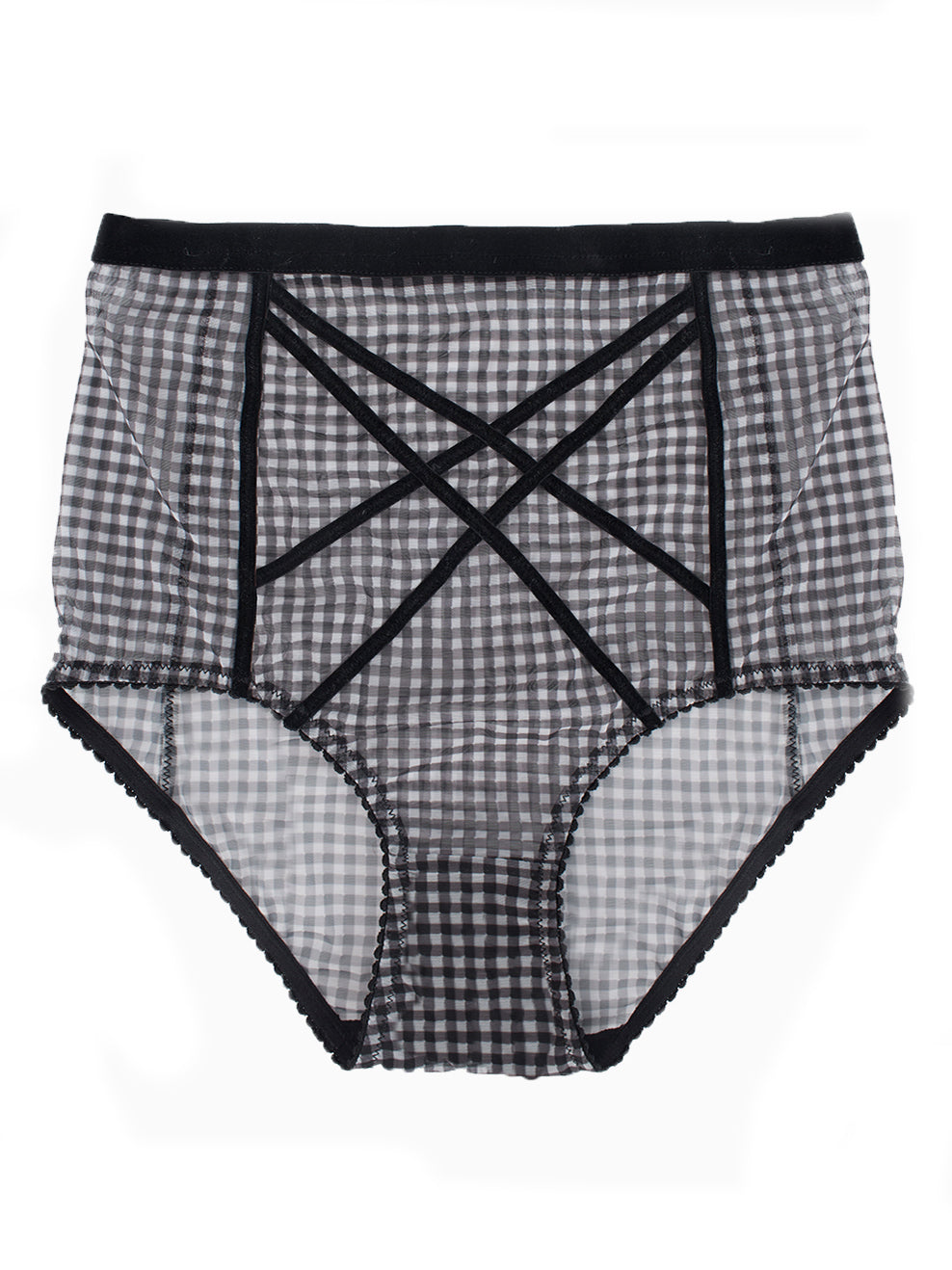 Buy Gigi high-waist brief gingham print by Lonely | Finding Rosie lingerie shop