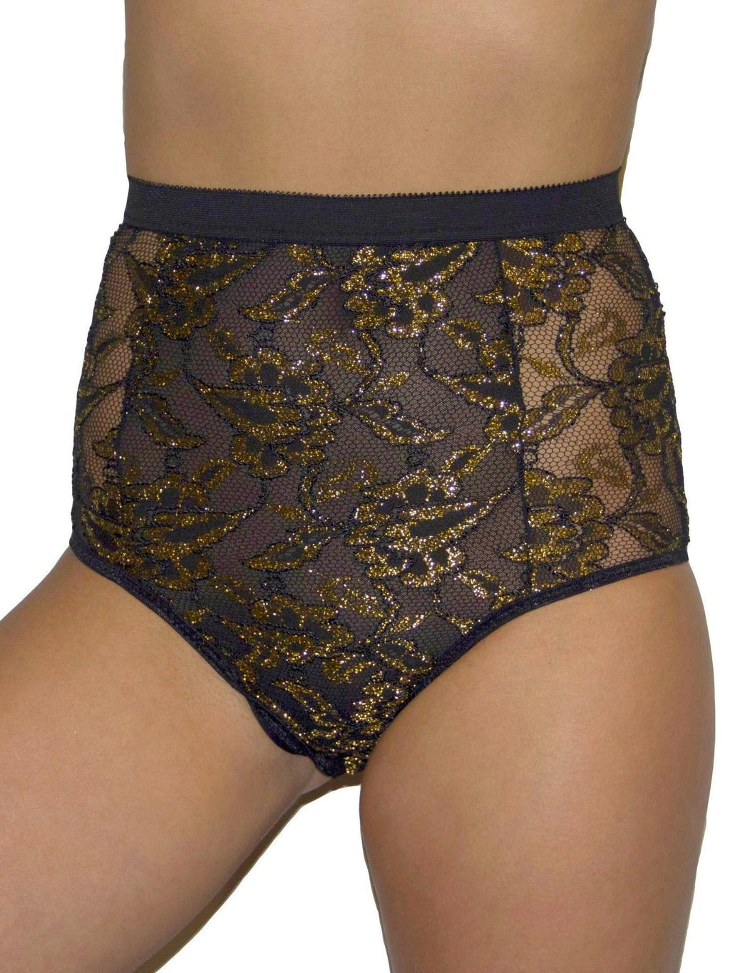 Gold high-waist Luca Undies by EastnWest