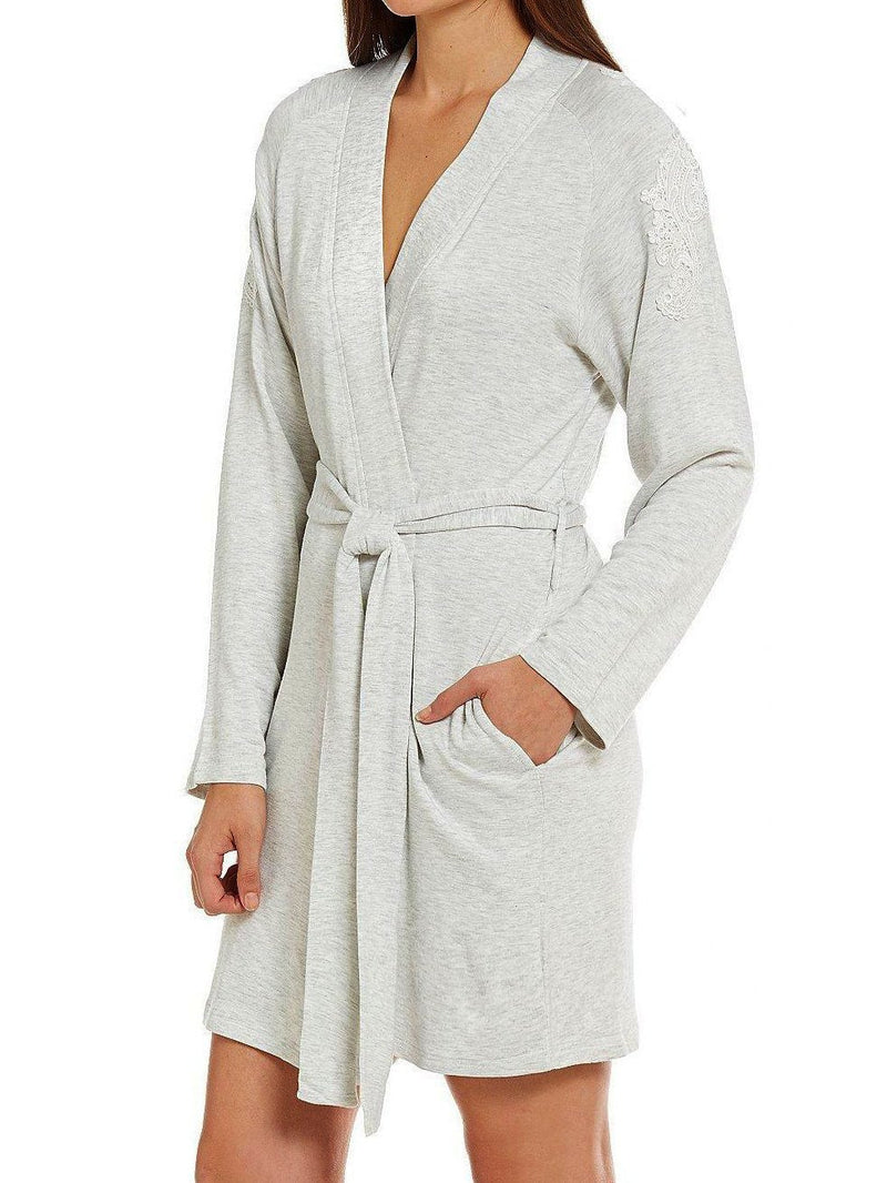 Ivy cozy robe in grey | Designer loungewear by Flora Nikrooz