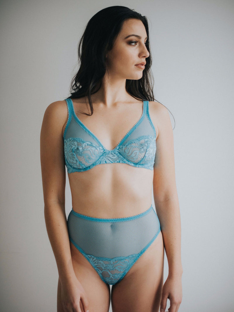 Lena underwire bra in topaz | Buy Lonely lingerie at Finding Rosie